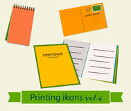 Print icons set6. Stock Photography