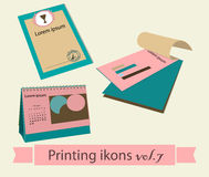 Print icons set7. Stock Image