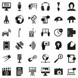 Print icons set, simple style. Print icons set. Simple set of 36 print vector icons for web isolated on white background Royalty Free Stock Photo