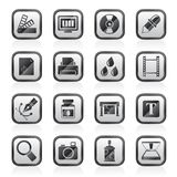 Print industry and graphic design icons Royalty Free Stock Images