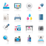 Print industry and graphic design icons. Vector icon set Stock Photos