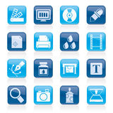 Print industry and graphic design icons. Vector icon set Royalty Free Stock Photography