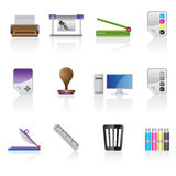 Print industry icon set Stock Photography