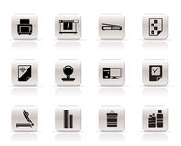 Print industry Icons Stock Images