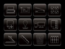 Print industry Icons Royalty Free Stock Image