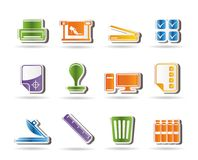 Print industry Icons Stock Image