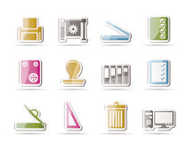 Print industry Icons Stock Photo