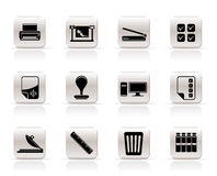 Print industry Icons. Print industry computer Icons - Vector icon set Royalty Free Stock Photos