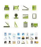 Print industry Icons - Vector icon set Royalty Free Stock Photo