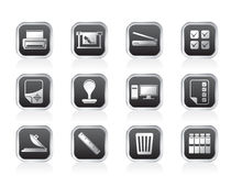 Print industry Icons Royalty Free Stock Photography