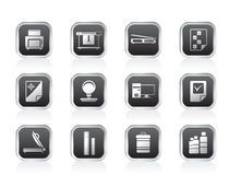 Print industry Icons Royalty Free Stock Photo