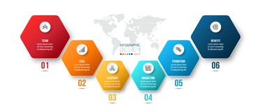 Infographic business template with step or option design