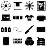Print items icons set, simple style Royalty Free Stock Image