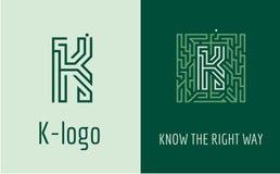 Print K letter maze Royalty Free Stock Photo