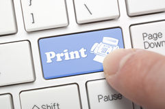 Print on keyboard Royalty Free Stock Images