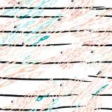 Print Leopard Modern Stripes Black White royalty free illustration