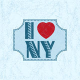 Print with lettering I Love NY Stock Images