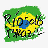 Print with lettering about Rio Royalty Free Stock Photo