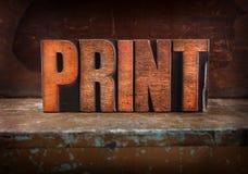Print - Letterpress Letters Stock Photos