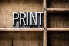 Print Letterpress Type in Drawer Royalty Free Stock Image