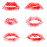 Print of lipstick red Royalty Free Stock Images