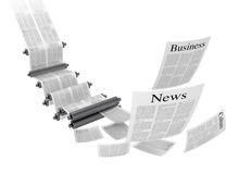 Print machine. Media concepts-print media. 3D image Royalty Free Illustration