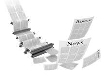 Print machine. Media concepts-print media. 3D image Stock Photos