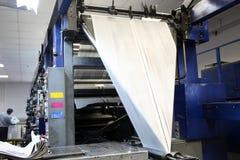 Print machine. Prints the newspaper stock image