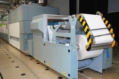 Print machine: digital press. Printing machine print and cut rolls of papers Stock Photos
