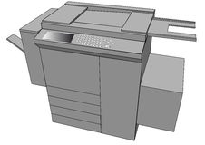 Print machine Royalty Free Stock Photo