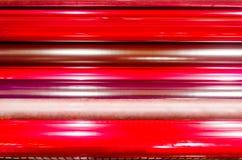 Print machine printing press rollers Stock Photos