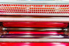 Print machine printing press rollers Royalty Free Stock Photography