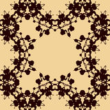 Print made of symmetrical blots Royalty Free Stock Photography