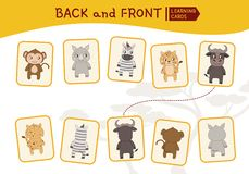 Kids educational game royalty free illustration