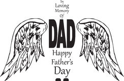 Print. In memory of dad, happy fathers day Stock Images