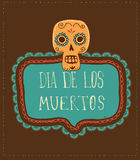 Print - mexican skull, day of the dead Royalty Free Stock Image