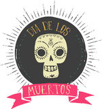 Print - mexican skull, day of the dead Stock Image