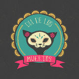 Print - mexican skull, day of the dead Stock Photography