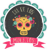 Print - mexican skull, day of the dead Royalty Free Stock Photography