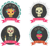 Print - mexican skull set, day of the dead Stock Image