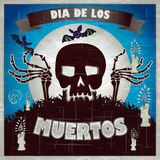 Print - mexican sugar skull, day of the dead poster Royalty Free Stock Photography