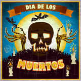 Print - mexican sugar skull, day of the dead poster Stock Images