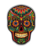 Print mexican traditional scull for T-shirt Royalty Free Stock Photography