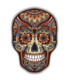 Print mexican traditional scull for T-shirt Royalty Free Stock Photo