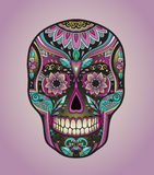 Print mexican traditional scull for T-shirt Stock Images
