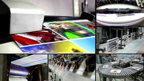 Print montage video wall background stock video