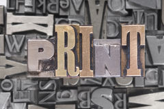 PRINT movable type Stock Images