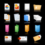 Print & Office Icons / / Black Background Stock Images