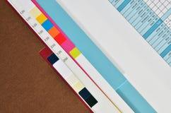 Print paper sample book Stock Photo
