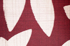 Print pattern on fabric as background. Red and white Royalty Free Stock Photography